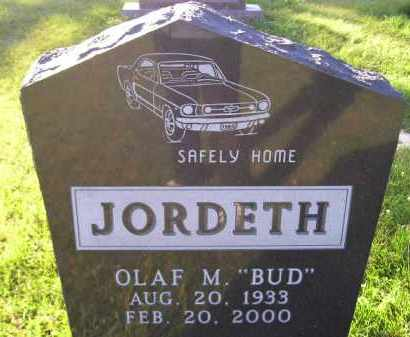 "JORDETH, OLAF M. ""BUD"" - Codington County, South Dakota | OLAF M. ""BUD"" JORDETH - South Dakota Gravestone Photos"