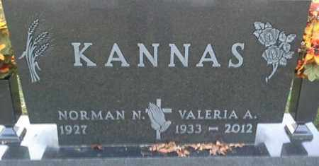 KANNAS, VALERIA A - Codington County, South Dakota | VALERIA A KANNAS - South Dakota Gravestone Photos