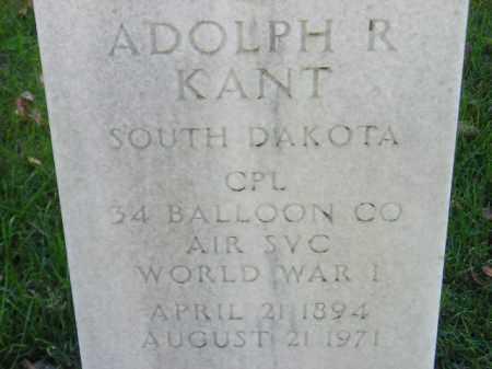 KANT, ADOLPH R. - Codington County, South Dakota | ADOLPH R. KANT - South Dakota Gravestone Photos