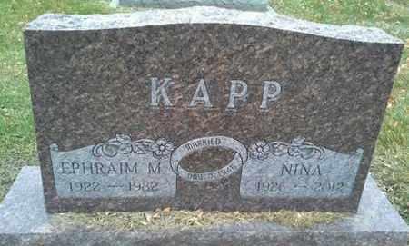 KAPP, EPHRAIM M - Codington County, South Dakota | EPHRAIM M KAPP - South Dakota Gravestone Photos