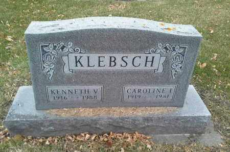 KLEBSCH, CAROLINE I - Codington County, South Dakota | CAROLINE I KLEBSCH - South Dakota Gravestone Photos