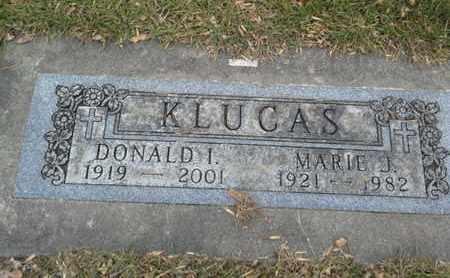 KLUCAS, DONALD I - Codington County, South Dakota   DONALD I KLUCAS - South Dakota Gravestone Photos