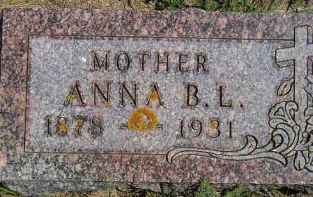 KNUDSON, ANNA B.L. - Codington County, South Dakota | ANNA B.L. KNUDSON - South Dakota Gravestone Photos
