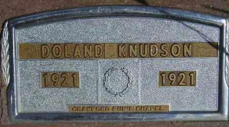 KNUDSON, DOLAND - Codington County, South Dakota | DOLAND KNUDSON - South Dakota Gravestone Photos