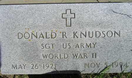 KNUDSON, DONALD R. - Codington County, South Dakota   DONALD R. KNUDSON - South Dakota Gravestone Photos