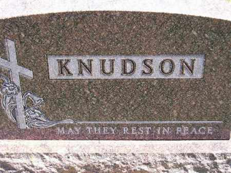 KNUDSON, FAMILY STONE - Codington County, South Dakota   FAMILY STONE KNUDSON - South Dakota Gravestone Photos