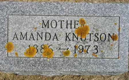KNUTSON, AMANDA B. - Codington County, South Dakota   AMANDA B. KNUTSON - South Dakota Gravestone Photos