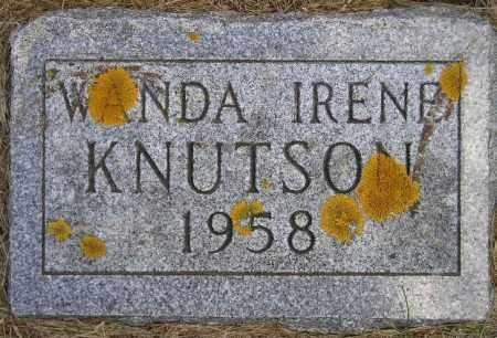 KNUTSON, WANDA IRENE - Codington County, South Dakota   WANDA IRENE KNUTSON - South Dakota Gravestone Photos