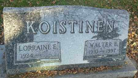 KOISTINEN, WALTER E - Codington County, South Dakota | WALTER E KOISTINEN - South Dakota Gravestone Photos