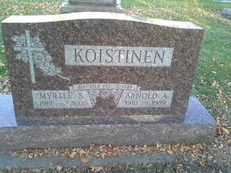 KOISTINEN, MYRTLE S - Codington County, South Dakota | MYRTLE S KOISTINEN - South Dakota Gravestone Photos