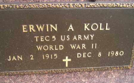 KOLL, ERWIN A. (WW II) - Codington County, South Dakota   ERWIN A. (WW II) KOLL - South Dakota Gravestone Photos