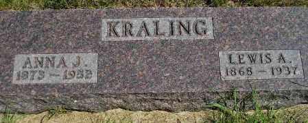 KNUDSON KRALING, ANNA JOSEPHINE - Codington County, South Dakota | ANNA JOSEPHINE KNUDSON KRALING - South Dakota Gravestone Photos