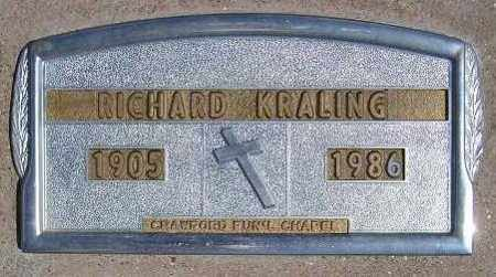 KRALING, RICHARD LEWIS - Codington County, South Dakota   RICHARD LEWIS KRALING - South Dakota Gravestone Photos