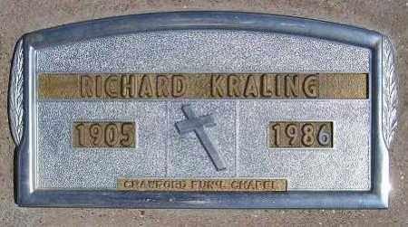 KRALING, RICHARD LEWIS - Codington County, South Dakota | RICHARD LEWIS KRALING - South Dakota Gravestone Photos