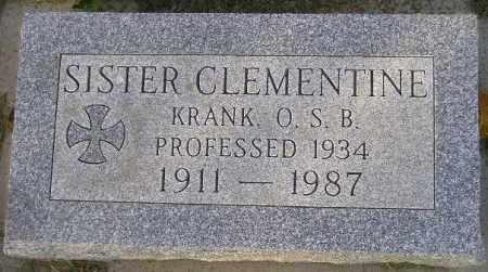 KRANK, CLEMENTINE - Codington County, South Dakota | CLEMENTINE KRANK - South Dakota Gravestone Photos
