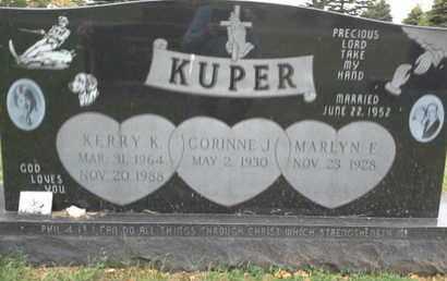 KUPER, KERRY K - Codington County, South Dakota   KERRY K KUPER - South Dakota Gravestone Photos