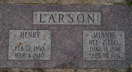 ZIRBEL LARSON, MINNIE - Codington County, South Dakota | MINNIE ZIRBEL LARSON - South Dakota Gravestone Photos