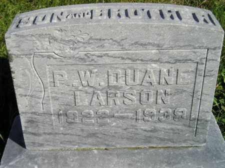 LARSON, P.W. DUANE - Codington County, South Dakota | P.W. DUANE LARSON - South Dakota Gravestone Photos