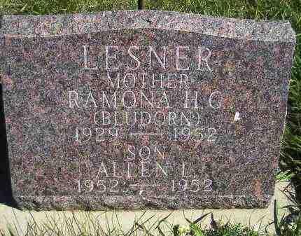 LESNER, RAMONA H.C. - Codington County, South Dakota | RAMONA H.C. LESNER - South Dakota Gravestone Photos