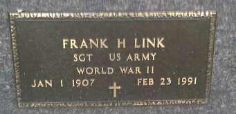 "LINK ""MILITARY"", FRANK H - Codington County, South Dakota | FRANK H LINK ""MILITARY"" - South Dakota Gravestone Photos"