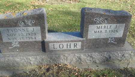 LOHR, MERLE J - Codington County, South Dakota | MERLE J LOHR - South Dakota Gravestone Photos