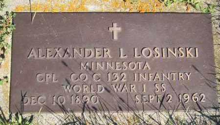LOSINSKI, ALEXANDER L. - Codington County, South Dakota | ALEXANDER L. LOSINSKI - South Dakota Gravestone Photos