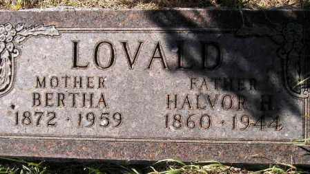 FJELSTAD LOVALD, BERTHA - Codington County, South Dakota | BERTHA FJELSTAD LOVALD - South Dakota Gravestone Photos
