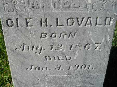 LOVALD, OLE H. - Codington County, South Dakota | OLE H. LOVALD - South Dakota Gravestone Photos