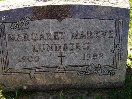 MARKVE LUNDBERG, MARGARET - Codington County, South Dakota | MARGARET MARKVE LUNDBERG - South Dakota Gravestone Photos