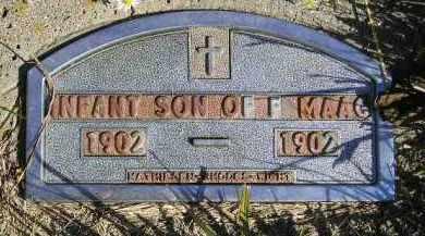 MAAG, INFANT SON 1902 - Codington County, South Dakota | INFANT SON 1902 MAAG - South Dakota Gravestone Photos