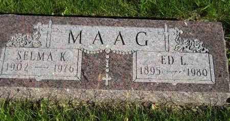 MAAG, SELMA KATHRYN - Codington County, South Dakota | SELMA KATHRYN MAAG - South Dakota Gravestone Photos