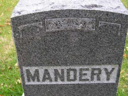 MANDERY, FAMILY STONE - Codington County, South Dakota | FAMILY STONE MANDERY - South Dakota Gravestone Photos