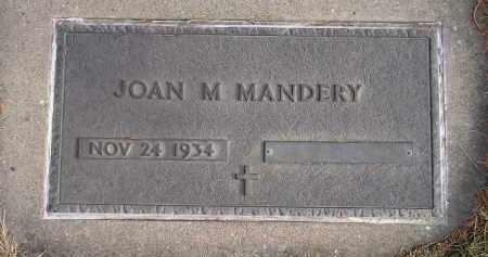 MANDERY, JOAN M. - Codington County, South Dakota | JOAN M. MANDERY - South Dakota Gravestone Photos