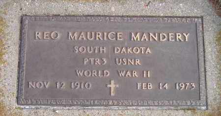 MANDERY, REO MAURICE - Codington County, South Dakota | REO MAURICE MANDERY - South Dakota Gravestone Photos