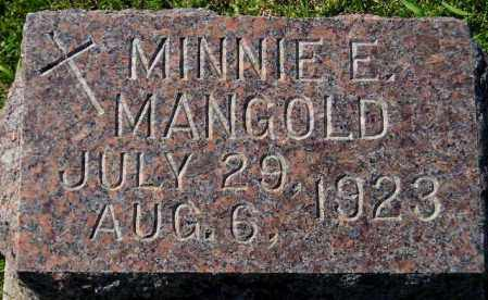 MANGOLD, MINNIE E. - Codington County, South Dakota | MINNIE E. MANGOLD - South Dakota Gravestone Photos