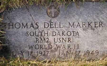 MARKER, THOMAS DELL - Codington County, South Dakota   THOMAS DELL MARKER - South Dakota Gravestone Photos