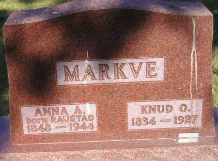 MARKVE, KNUD O. - Codington County, South Dakota | KNUD O. MARKVE - South Dakota Gravestone Photos