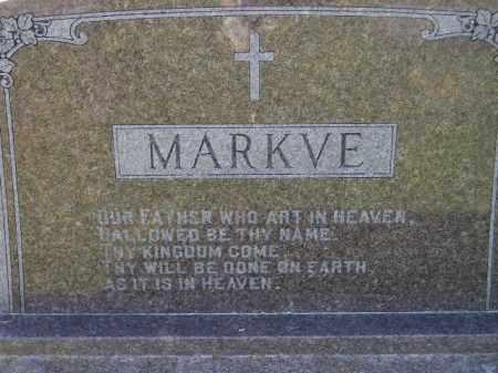 MARKVE, FAMILY STONE - Codington County, South Dakota | FAMILY STONE MARKVE - South Dakota Gravestone Photos