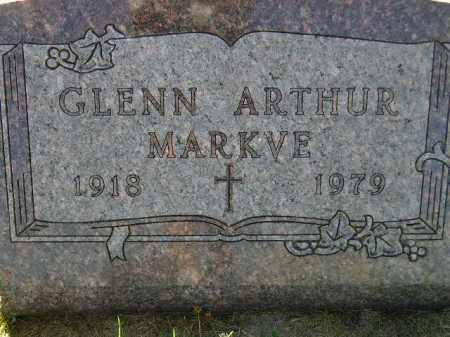 MARKVE, GLENN ARTHUR - Codington County, South Dakota   GLENN ARTHUR MARKVE - South Dakota Gravestone Photos