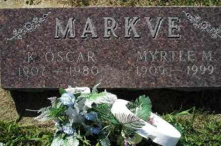 MARKVE, KNUTE OSCAR - Codington County, South Dakota | KNUTE OSCAR MARKVE - South Dakota Gravestone Photos