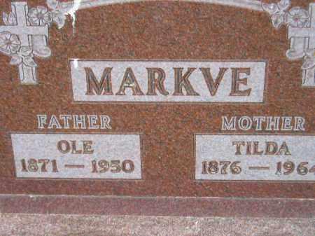 MARKVE, TILDA - Codington County, South Dakota | TILDA MARKVE - South Dakota Gravestone Photos