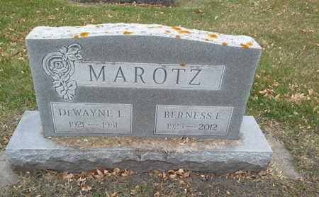 MAROTZ, BERNESS E - Codington County, South Dakota | BERNESS E MAROTZ - South Dakota Gravestone Photos