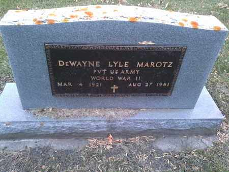 "MAROTZ, DE WAYNE LYLE ""MILITARY"" - Codington County, South Dakota 