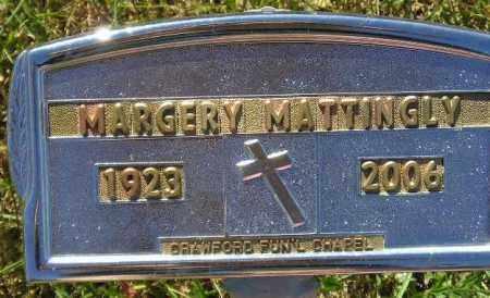 MATTINGLY, MARGERY L. - Codington County, South Dakota | MARGERY L. MATTINGLY - South Dakota Gravestone Photos