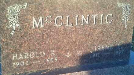 MCCLINTIC, HAROLD K - Codington County, South Dakota | HAROLD K MCCLINTIC - South Dakota Gravestone Photos