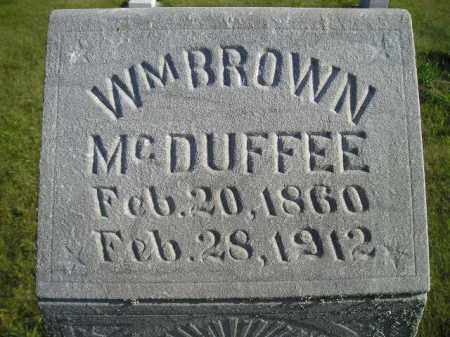 MCDUFFEE, WM. BROWN - Codington County, South Dakota | WM. BROWN MCDUFFEE - South Dakota Gravestone Photos