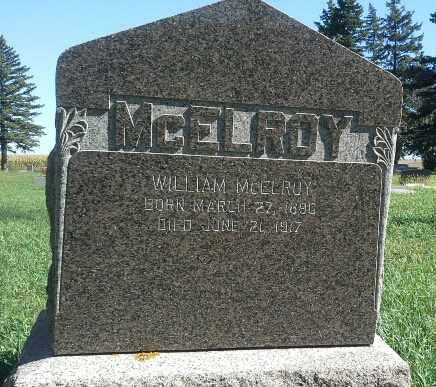 MCELROY, WILLIAM - Codington County, South Dakota   WILLIAM MCELROY - South Dakota Gravestone Photos