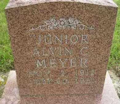 """MEYER, ALVIN C. """"JUNIOR"""" - Codington County, South Dakota   ALVIN C. """"JUNIOR"""" MEYER - South Dakota Gravestone Photos"""