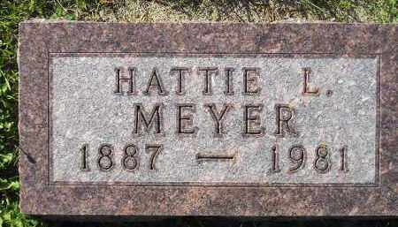 MEYER, HATTIE L. - Codington County, South Dakota | HATTIE L. MEYER - South Dakota Gravestone Photos
