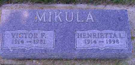 MIKULA, VICTOR F. - Codington County, South Dakota | VICTOR F. MIKULA - South Dakota Gravestone Photos